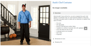 Pottery Barn Sushi Chef