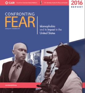 Cover page for CAIR report-Confronting fear