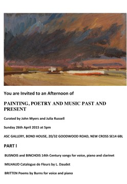 PAINTING, POETRY AND MUSIC PAST AND PRESENT