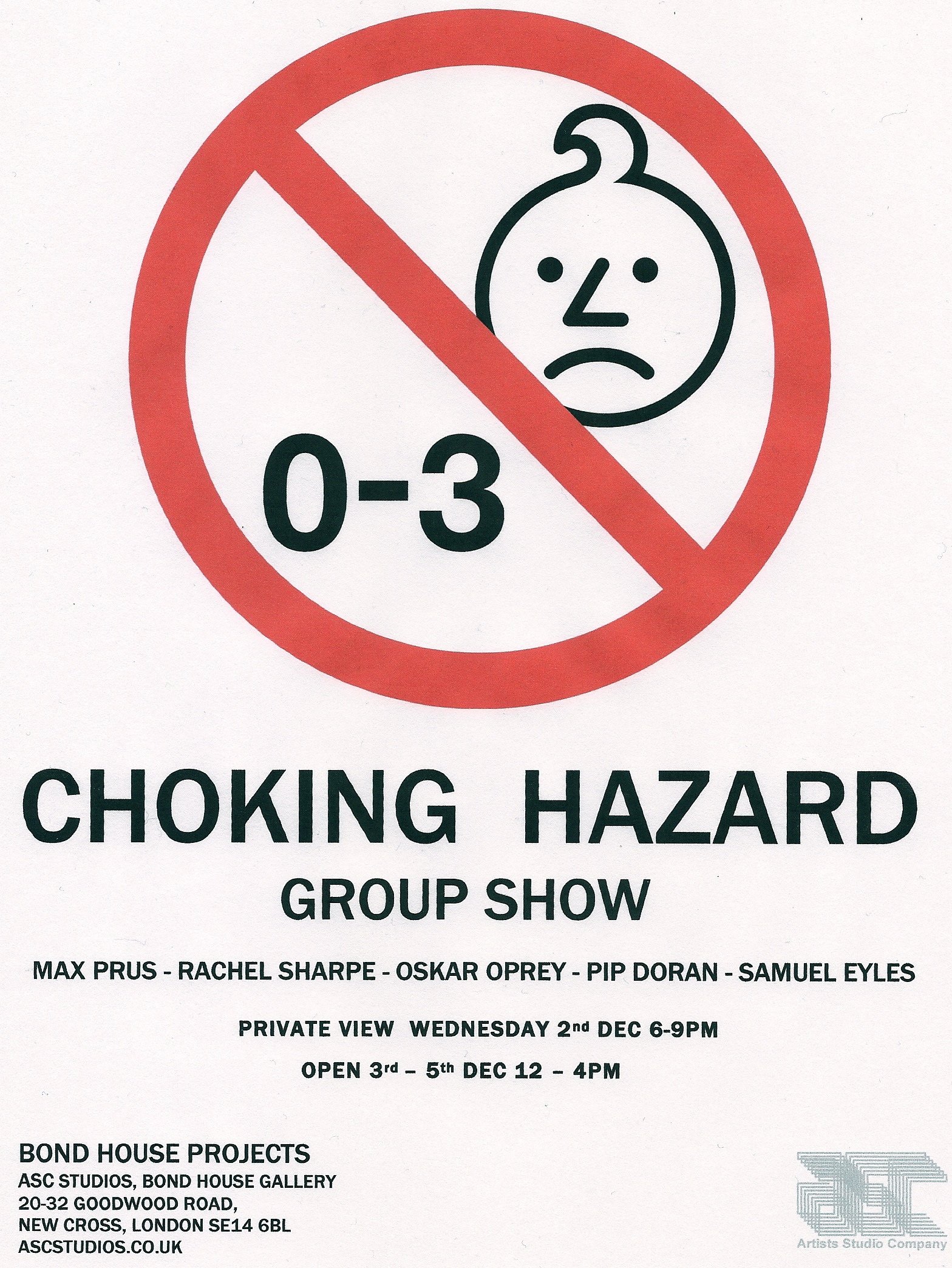 CHOKING HAZARD POSTER