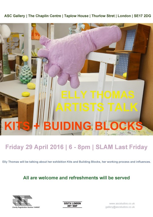 29th April 2016 /Artists Talk..Kits + Building Blocks