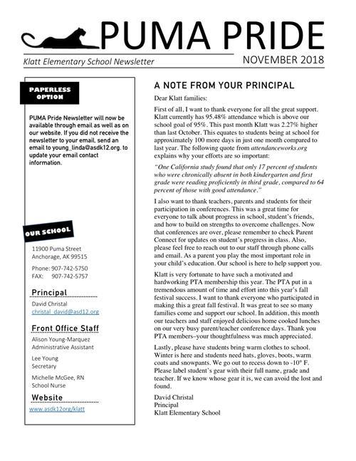 School Newsletters / School Newsletters