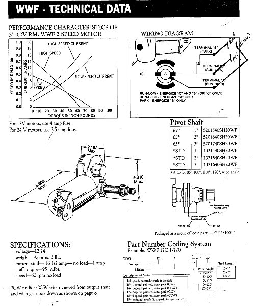 wexco wiper motor wiring diagram for newmar
