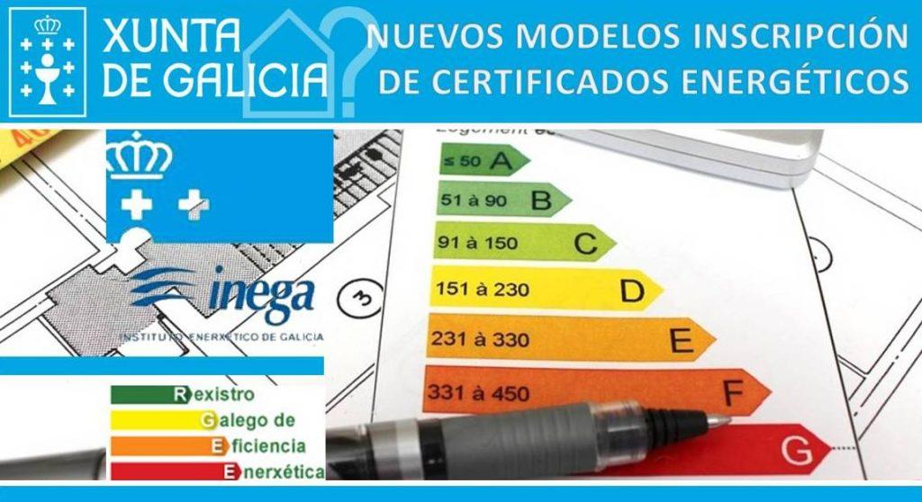 Novedades Inscripción Registro Certificados Energéticos GALICIA - modelos de certificados