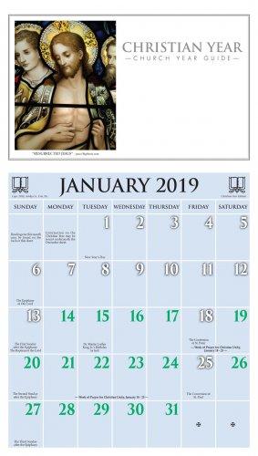 2019 Christian Year Calendar - Ashby Publishing