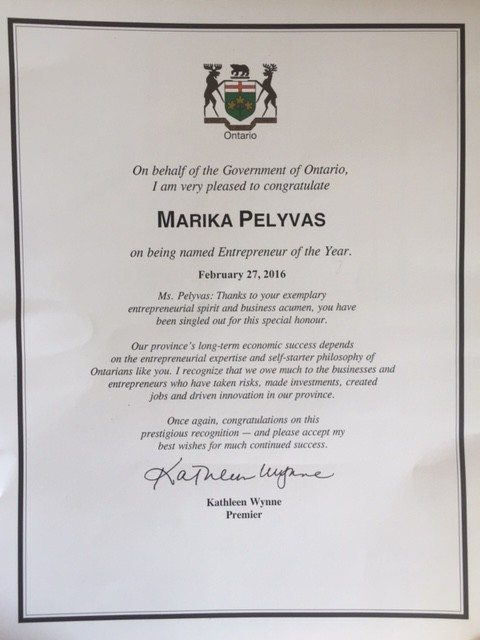 award Ashgrove Spa - i owe you certificate