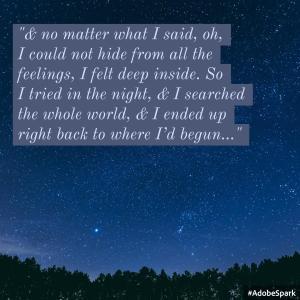 I Tried in the Night Lyric Art by Ashlee Craft