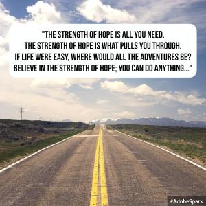 The Strength of Hope Lyric Art by Ashlee Craft