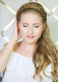 Easy Braided Headband Hair Tutorial | Ashley Brooke