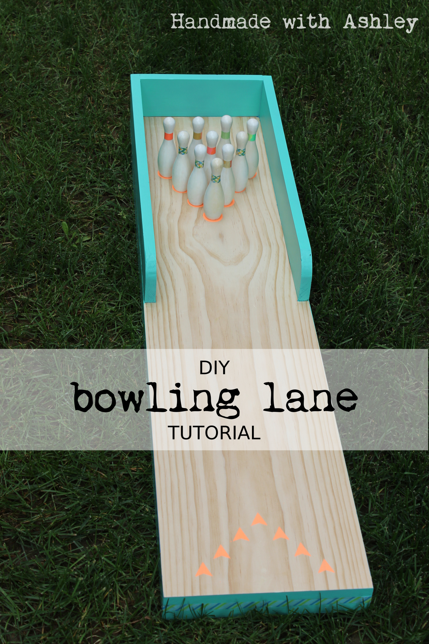 diy bowling lane tutorial handmade with ashley