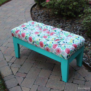 DIY Upholstered Bench – November's FFFC Contest (Sponsored by Minted!)