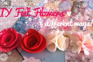 fabric flowers felt roses tutorial