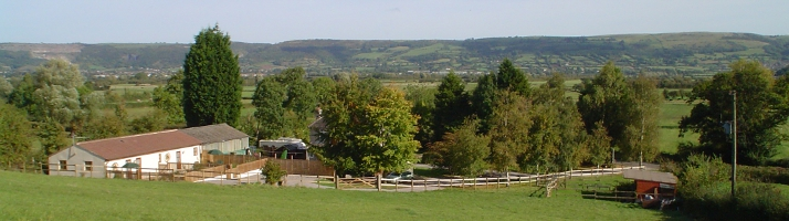 View from Ashton Cottages across to Cheddar