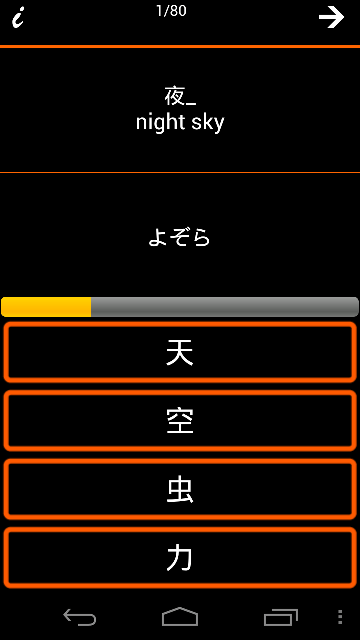 test word->Kanji