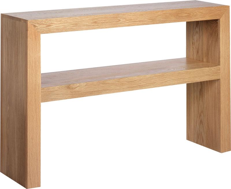 Cuba Cube Oak Console Table
