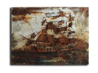 Tall Ship Metal Wall Art