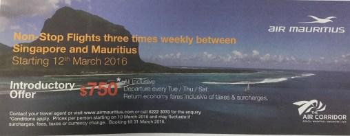 Singapore to Mauritius