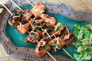 Red Curry Salmon Kebabs