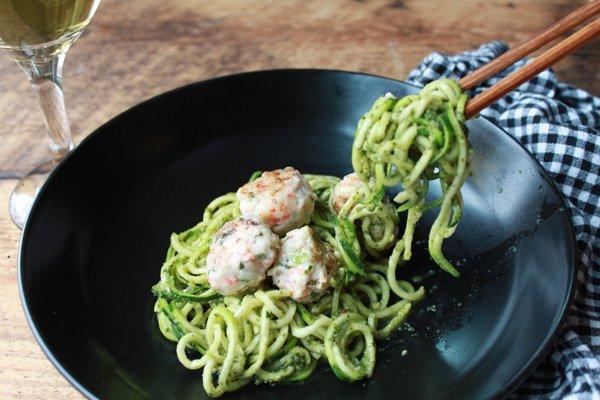 thai pesto zucchini shrimp