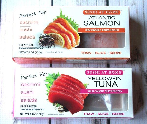 sushi tuna sushi salmon