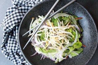 Spicy Kale & Fennel Salad with Lemon Vinaigrette