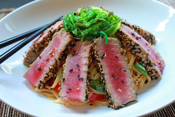 sesame crusted tuna