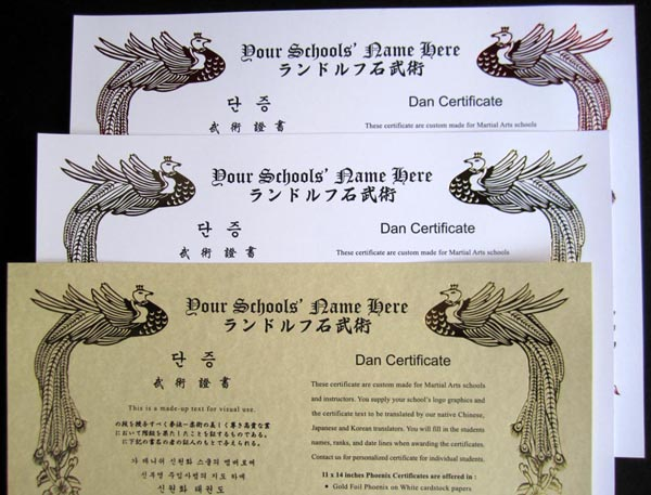 Custom Layout Design \ Printed by Asian Martial Arts Design Text - certificate design format