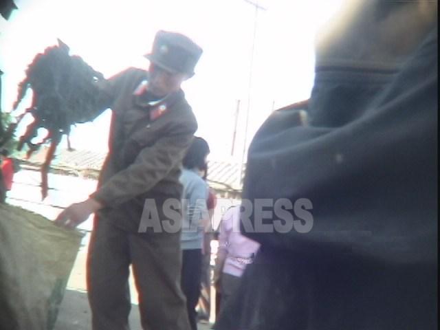 <北朝鮮動画報告>準戦時態勢下で人民軍はワカメ売りをしていた
