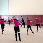 기관차 체육선수단(철도성 산하 체육단) 리듬 체조 선수들의 훈련 모습. (우리민족끼리에서)
