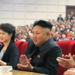 김정은과 부인 이설주. 2014년 5월 노동신문에서 인용