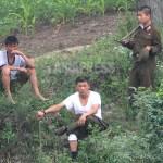 압록강 하류에 주둔하는 국경경비대. 평안북도 삭주군에서 2007년 8월 촬영(아시아프레스)