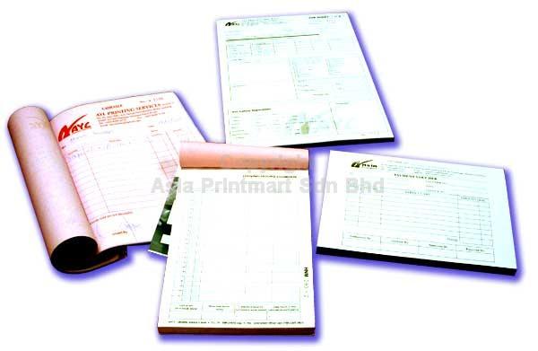 Print Invoice Book Malaysia Printing Jobsheets Forms Selangor
