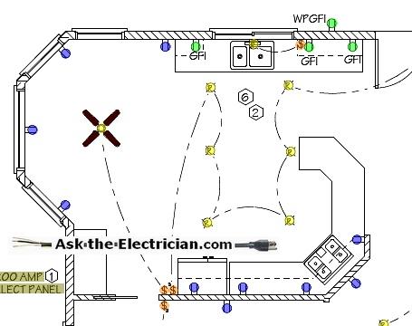 kitchen lighting wiring diagram