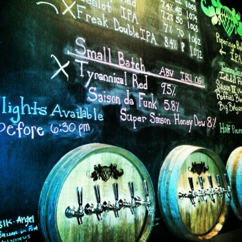 Beer Taps at Wicked Weed Brewing Asheville NC
