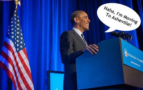 asheville obama president