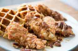 Small Of Chicken  Waffles