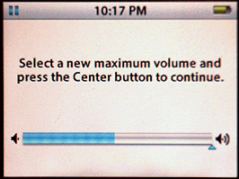 Apple iPod: Settings: Maximum Volume