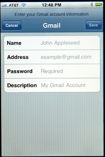 Apple iPhone Email: Gmail Configuration
