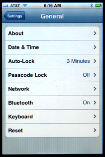 Apple iPhone Settings: General