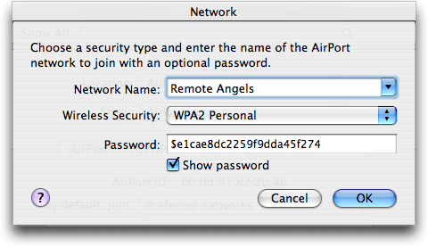 Mac OS X: Network Configuration: Airport Wireless Wifi 802.11: Show Password