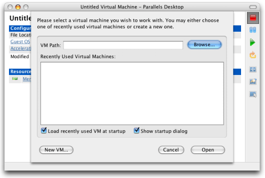Parallels, Untitled Virtual Machine
