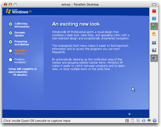 Parallels - Windows XP - An Exciting New Look!