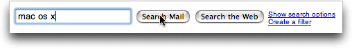 Google Gmail: Search: Mac OS X