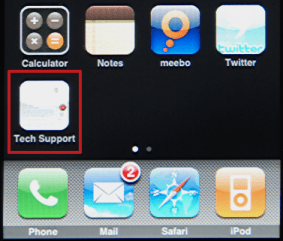 Apple iPhone: Safari: Home Page bookmark - default - for Ask Dave Taylor Tech Support