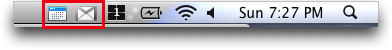 Google Notifier for Mac: Icons on the Menu Bar
