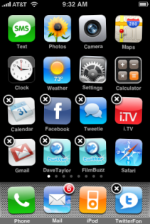 apple iphone rearranging icons 2