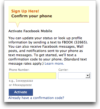 facebook activate mobile 2