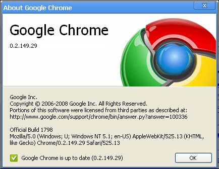 google chrome new version