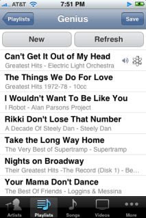 iphone ipod genius playlist refreshed (free apple iphone help)