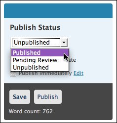 wordpress publish change status (wp blog post scheduling)